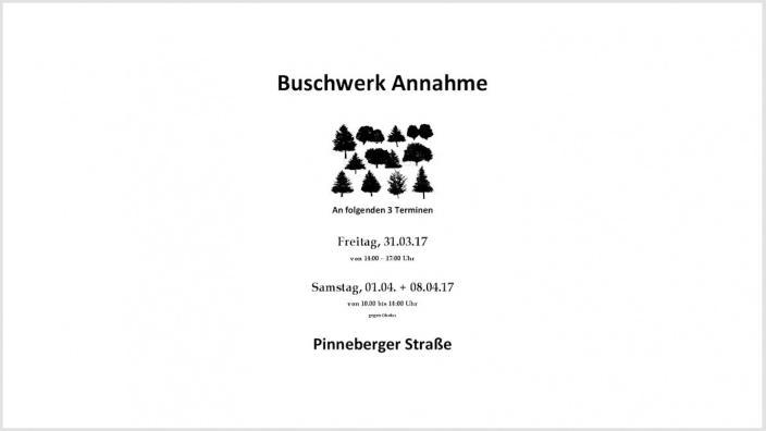 Buschwerk-Annahme 2017